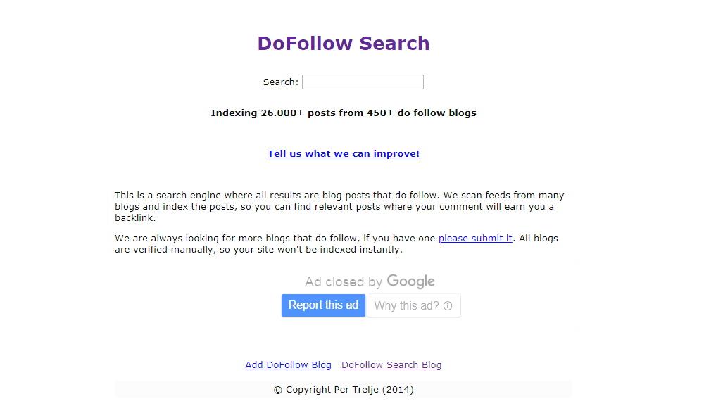 DoFollow Search