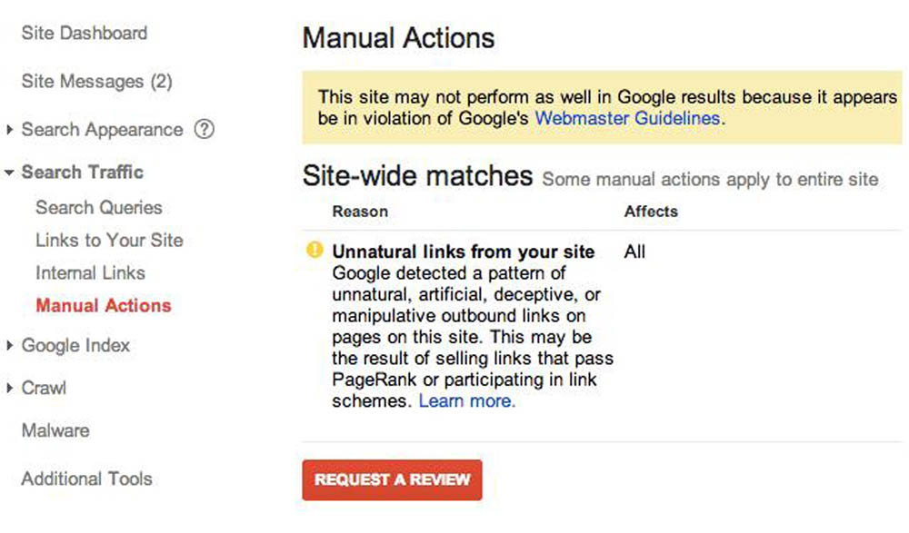 Google Manual Penalty - Unnatural Links From Website
