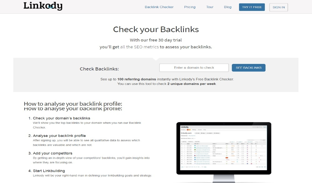 Linkody Backlink Tracker