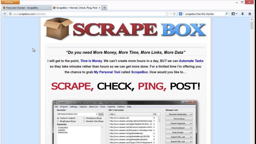 ScrapeBox software