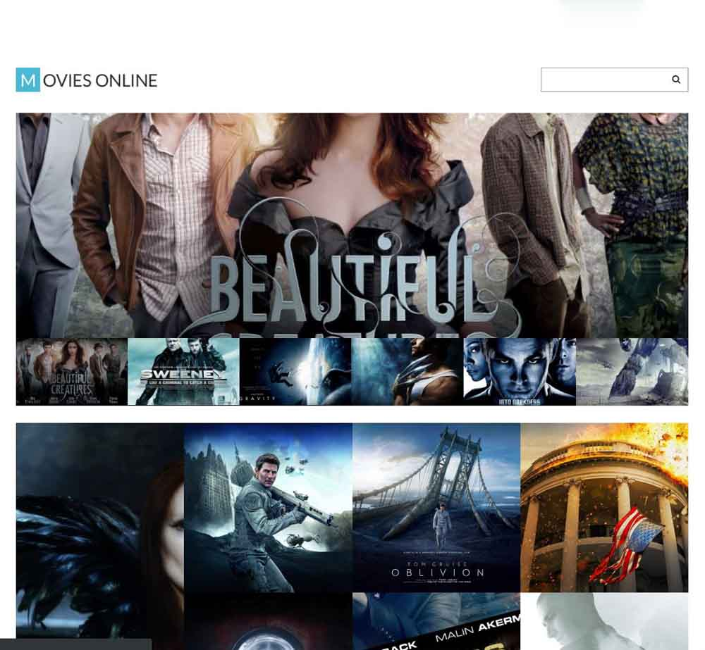 Movies Online by Template Monster - Demo Layout