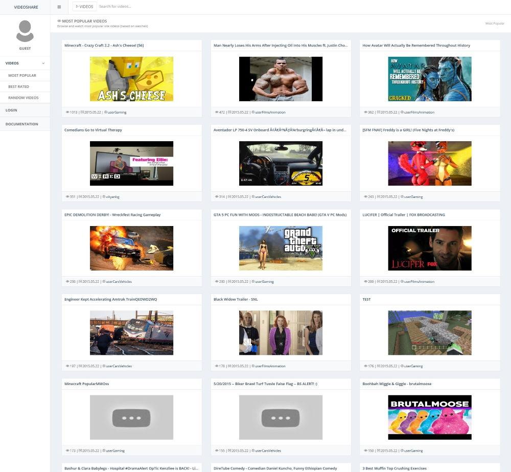 VideoShare-Layout