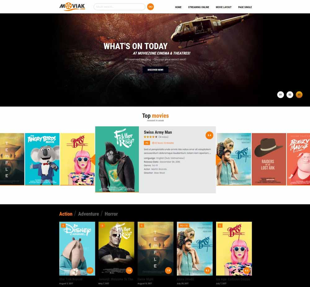 AmyMovie by AmyTheme Demo Layout