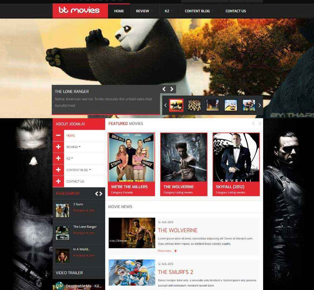 BT Movies by BowThemes Demo Layout