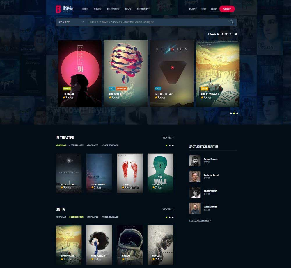 BlockBuster by BoostifyThemes Demo Layout