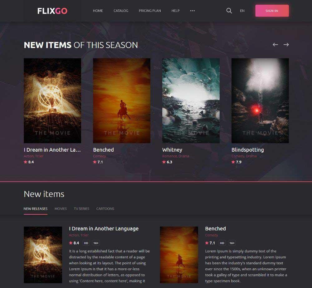 FlixGo by DmitryVolkov Demo Layout