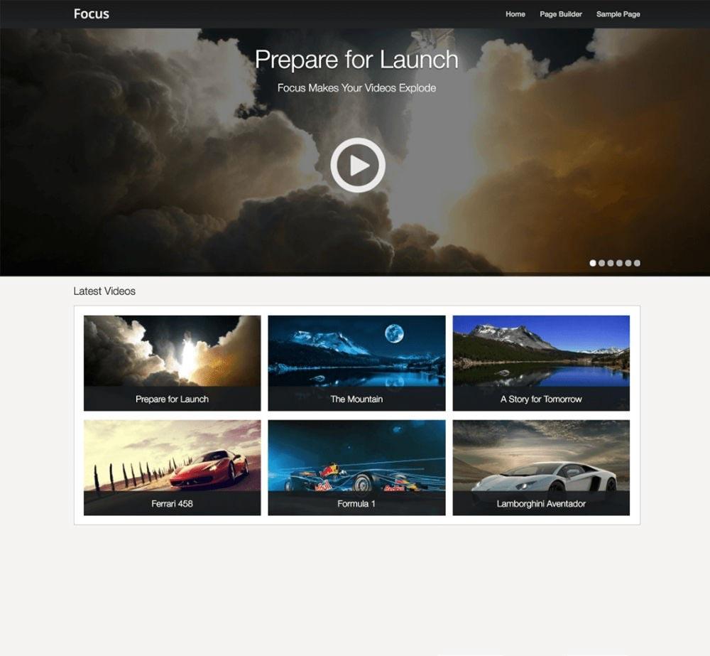 Focus by SiteOrigin Demo Layout