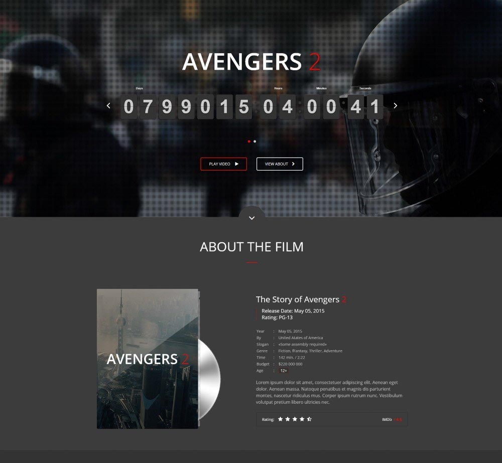 Movie Me by Wwwebinvader Demo Layout
