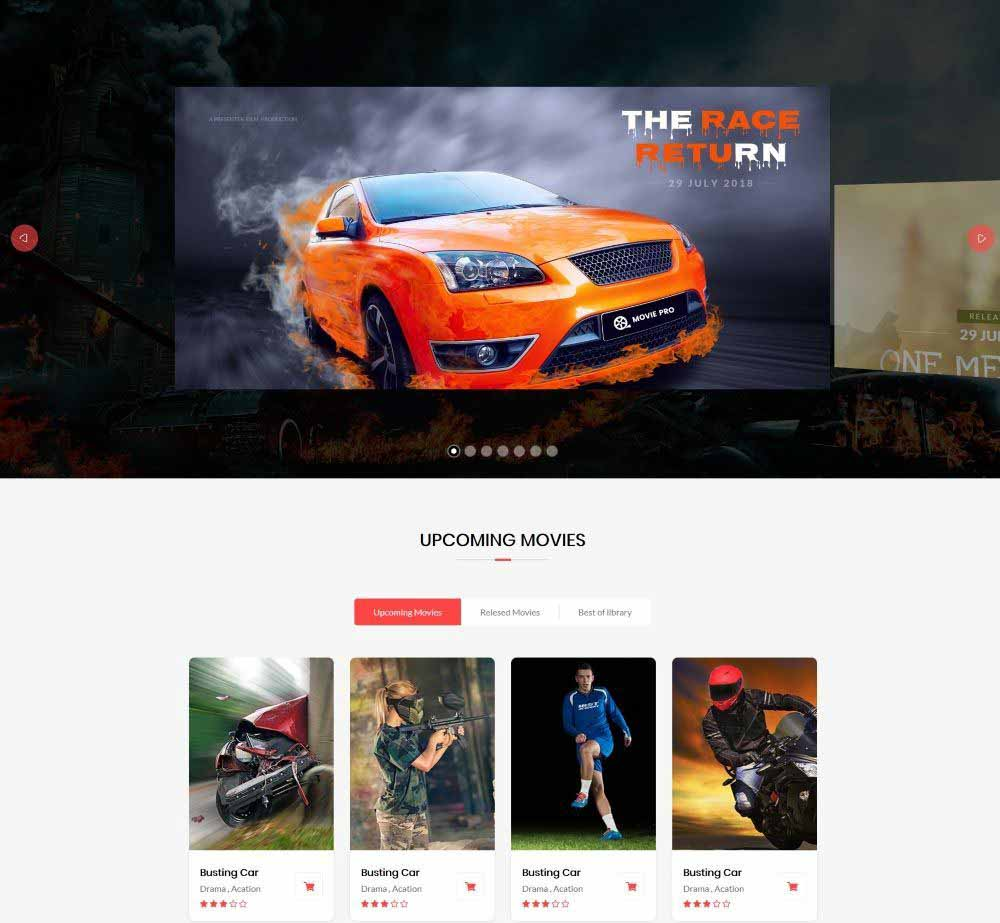 Movie Pro by Webstrot Demo Layout