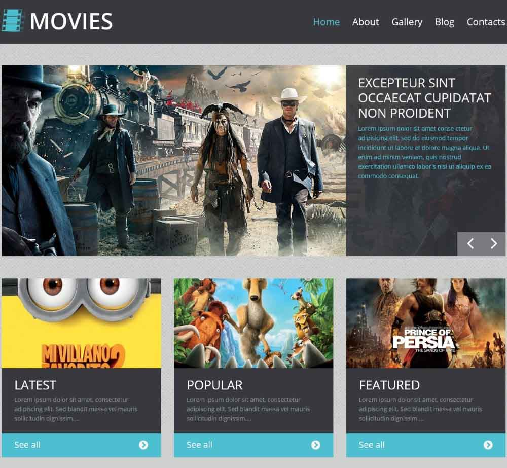 Movie Responsive 2 by Template Monster Demo Layout