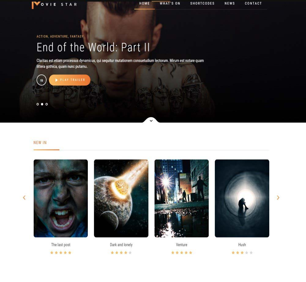Movie Star by XenoThemes Demo Layout