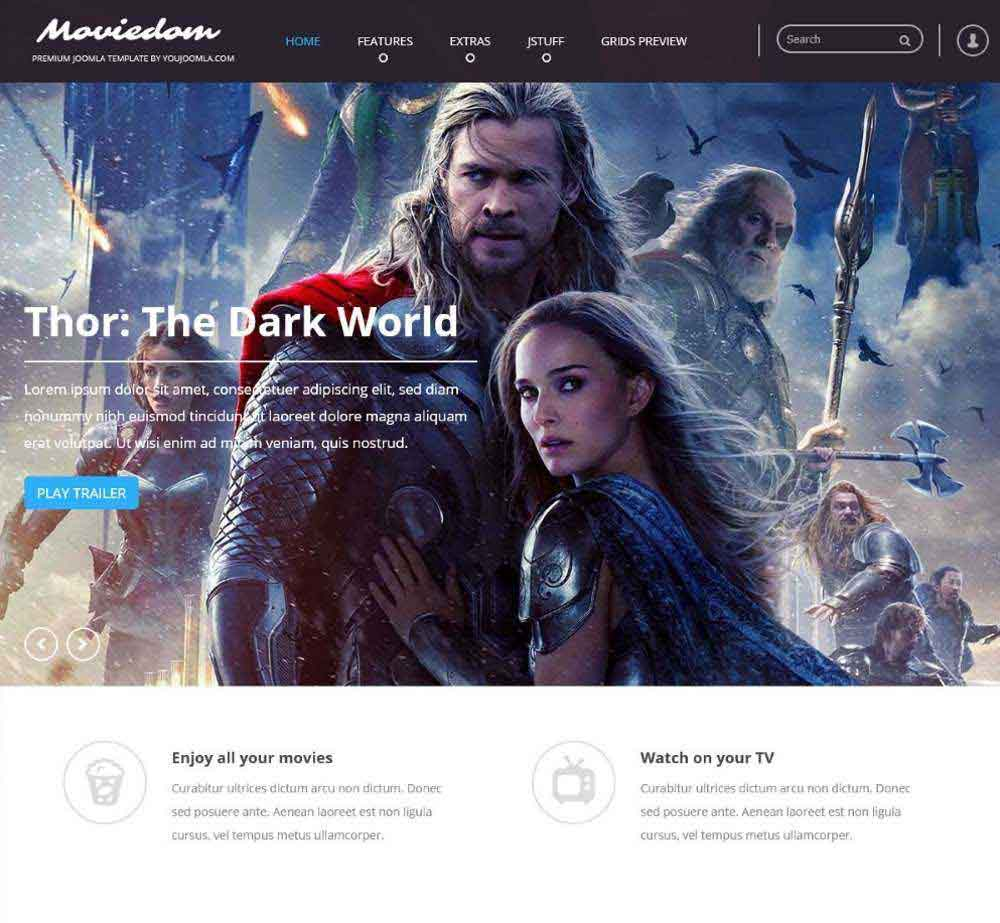 Moviedom by Youjoomla Demo Layout