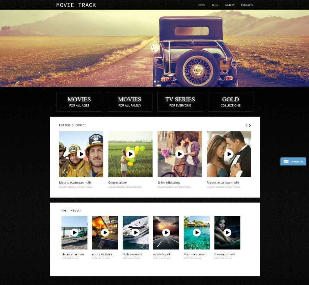 Online Movies by Template Monster Demo Layout